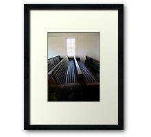 Sacred Seats Framed Print