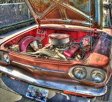Engine of the old 64 Corvair by henuly1