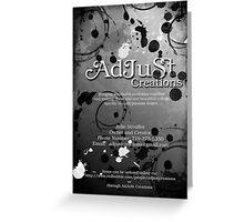 AdJuSt Creations Logo Greeting Card