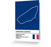 Circuit de la Sarthe - v2 Greeting Card