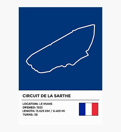 Circuit de la Sarthe - v2 Photographic Print