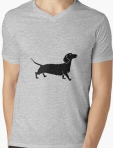 Connect The Doxie Dots Mens V-Neck T-Shirt