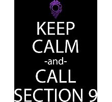 ghost in the shell keep calm call section 9 anime manga shirt Photographic Print