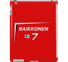 F1 2015 - #7 Raikkonen [v2 Red] iPad Case/Skin