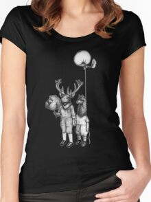 Deerboy and Alpacaboy at the fun fair Women's Fitted Scoop T-Shirt