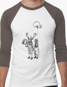 Deerboy and Alpacaboy at the fun fair Men's Baseball ¾ T-Shirt