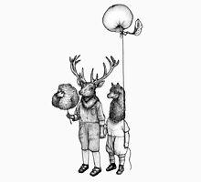 Deerboy and Alpacaboy at the fun fair Unisex T-Shirt
