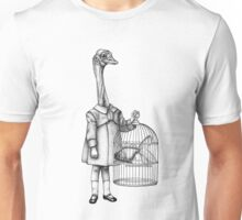 Ostrichgirl with her goldfish Unisex T-Shirt