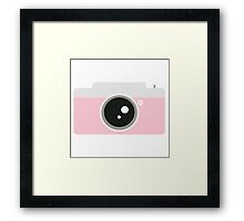 Pink Camera Graphic Framed Print