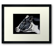 Holstein Friesian Dairy Cow Portrait Framed Print