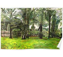 An Original Pastel Landscape Drawing Poster