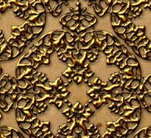 3D Old World Gold Design Sticker