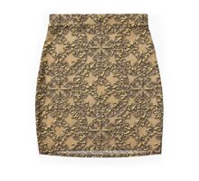3D Old World Gold Design Mini Skirt