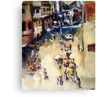 Old city marketplace Canvas Print