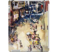 Old city marketplace iPad Case/Skin
