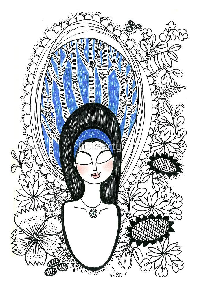 Sketch 9 ... feel like a princess by littlearty