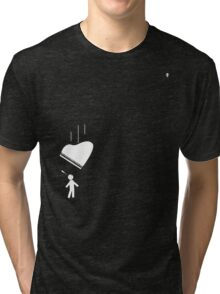 Salt Tax Things are Lookin up - white Tri-blend T-Shirt