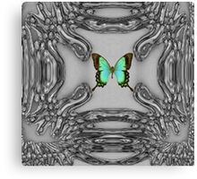 My Green Butterfly Canvas Print