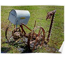 Old Farm Implement - Pioneer Post Poster
