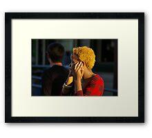 Mobile Telephone Conversation Framed Print