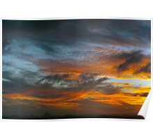 Sky Inferno - Glasshouse Mountains Poster