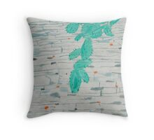 green on the wall Throw Pillow