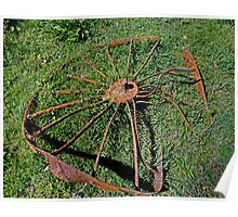 Old Farm Implement - The Wheels of Time Poster