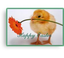 Happy Easter Chick  Canvas Print
