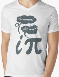 Be rational get real geek funny nerd Mens V-Neck T-Shirt