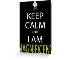 fullmetal alchemist keep calm for i am magnificent alex armstrong anime manga shirt Greeting Card