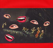 Nocturne (Carnivalesque Collage Series) by Ms. Creant
