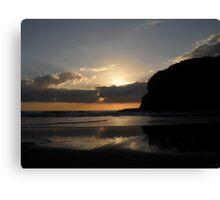 `*  sunset at bethells *` Canvas Print