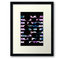 Behind the Screen Lavender Framed Print