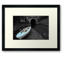 Bruce Tunnel and Little Blue Boat Framed Print