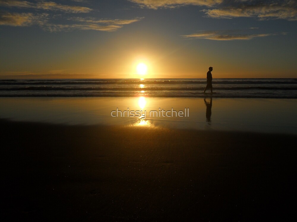 silhouette sunset ~  by chrissy mitchell