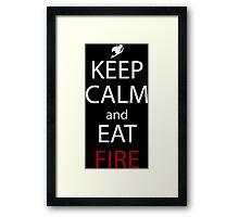 fairy tail natsu keep calm and eat fire anime manga shirt Framed Print
