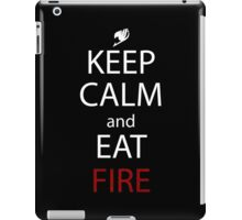 fairy tail natsu keep calm and eat fire anime manga shirt iPad Case/Skin
