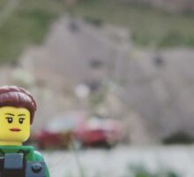 Lego hiker and photographer Sticker
