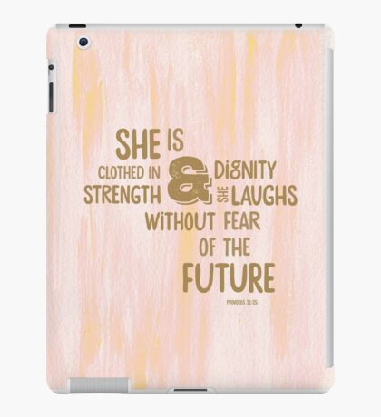Pretty Painted Modern Typographic Bible Verse. iPad Case/Skin