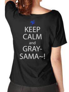 fairy tail juvia gray keep calm anime manga shirt Women's Relaxed Fit T-Shirt