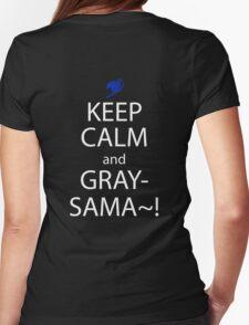 fairy tail juvia gray keep calm anime manga shirt Womens Fitted T-Shirt
