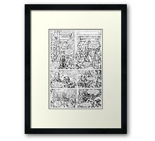 The Tempest page 2 Framed Print