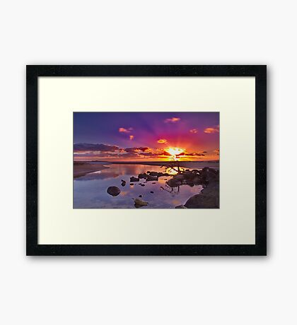 """Dayspring at Fisherman's Beach"" Framed Print"