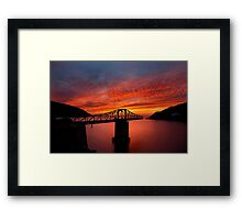 The bridges to sunset have collapsed Framed Print