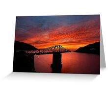 The bridges to sunset have collapsed Greeting Card