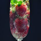 Strawberries in glass by Karen Waples