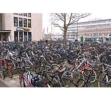 Sea of bicycles, Heidelberg Photographic Print