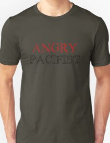 Angry Pacifist - Red And Half Black Ink T-Shirt