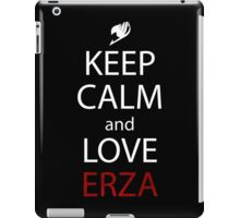 fairy tail keep calm and love erza scarlet anime manga shirt iPad Case/Skin