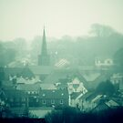 Haverfordwest church in the fog by Anthony Thomas